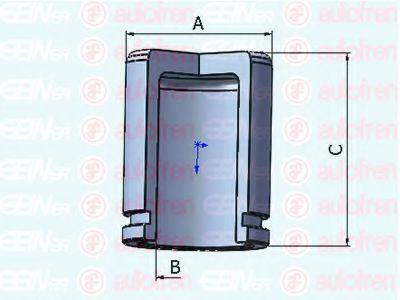 Поршень тормозного суппорта  арт. D025279