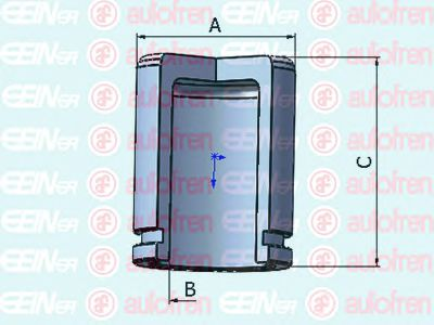 Поршенек суппорта зад Lacetti/Nubira 32x44,9  арт. D025434