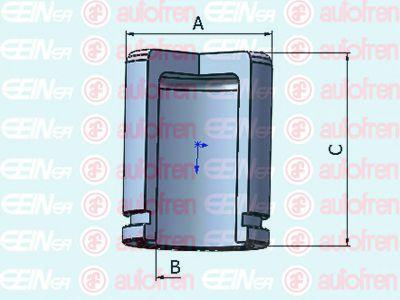 Поршень тормозного суппорта  арт. D025338