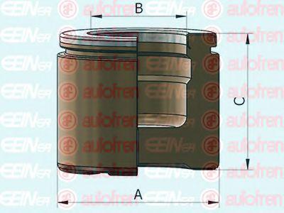 Поршенек суппорта перед Aveo/Cruze/MB W163/Astra J/Insignia/Zafira 60x51  арт. D025364