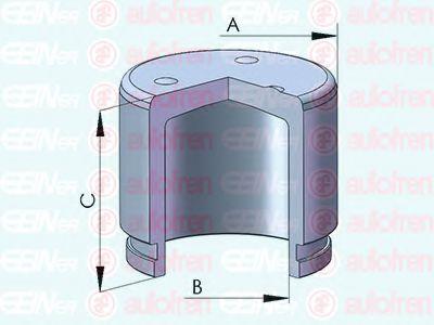 Поршень тормозного суппорта  арт. D025526