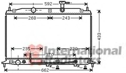 Радиатор охлаждения ACCENT3 14i/16i AT 05-(пр-во Van Wezel)                                          VANWEZEL 82002177