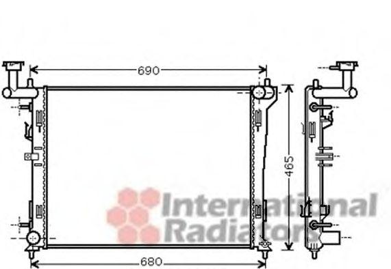 Радиатор охлаждения HYUNDAI;KIA (пр-во Van Wezel)                                                    VANWEZEL 82002180