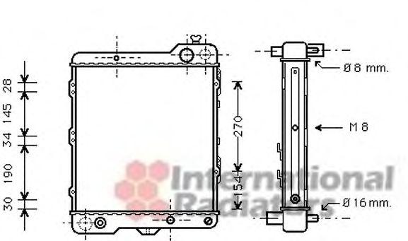 Радиатор охлаждения AUDI 80 (пр-во Van Wezel)                                                        VANWEZEL 03002040