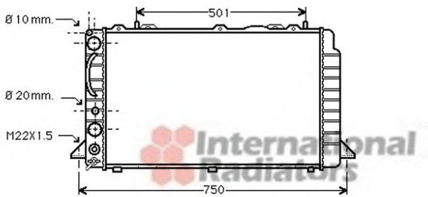Радиатор охлаждения AUDI 80 (пр-во Van Wezel)                                                        VANWEZEL 03002089