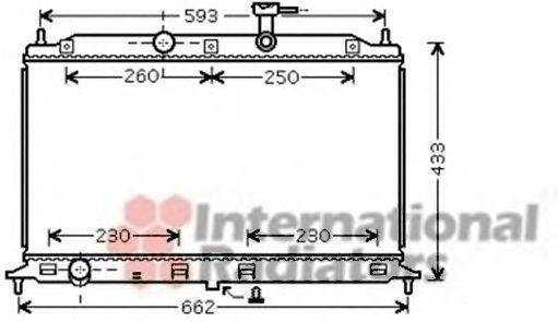 Радиатор охлаждения KIA  RIO II (JB) (05-)  1.6 i 16V  М/А (пр-во Van Wezel)                         VANWEZEL 83002077