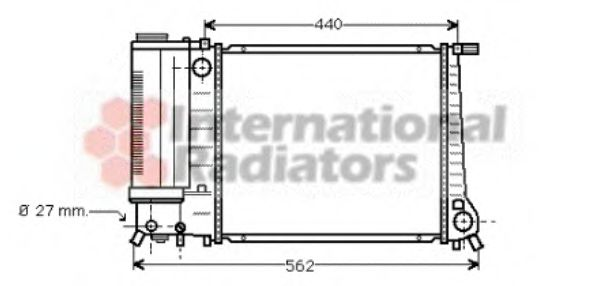 Радиатор охлаждения BMW 318i 3 Series [E30] (пр-во Van Wezel)                                        VANWEZEL 06002081