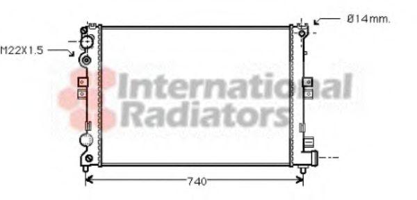 Радиатор охлаждения CITROEN, PEUGEOT (пр-во Van Wezel)                                               VANWEZEL 09002079