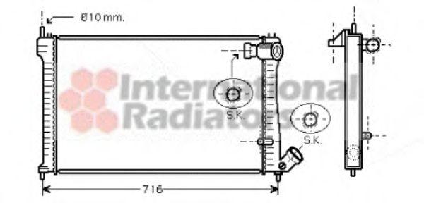 Радиатор охлаждения CITROEN, PEUGEOT (пр-во Van Wezel)                                               VANWEZEL 09002102