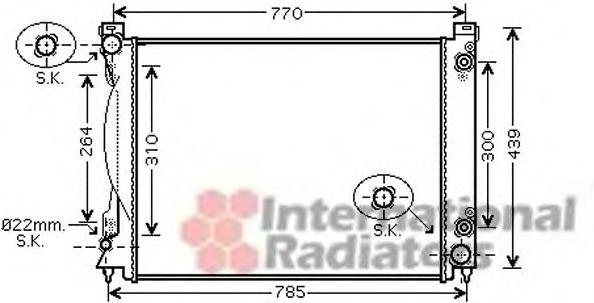 Радиатор охлаждения A6 24/30/32 AT +-AC 04-(пр-во Van Wezel)                                         VANWEZEL 03002231