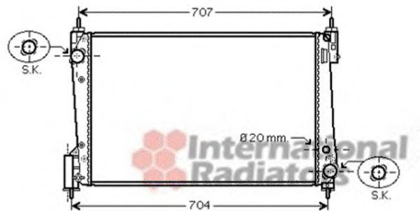 Радиатор охлаждения CORSA D 13CDTi MT 06-(пр-во Van Wezel)                                           VANWEZEL 37002423