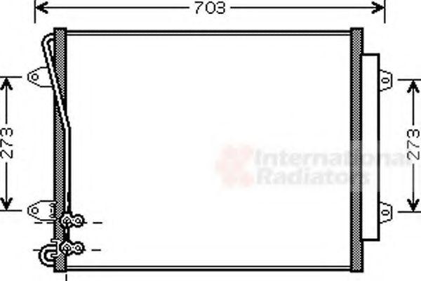 Конденсатор кондиционера VOLKSWAGEN  PASSAT (пр-во Van Wezel)                                        VANWEZEL 58005226