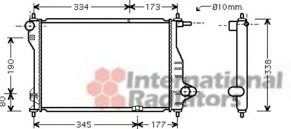 Радиатор охлаждения CHEVROLET Matiz (пр-во Van Wezel)                                                VANWEZEL 81002075