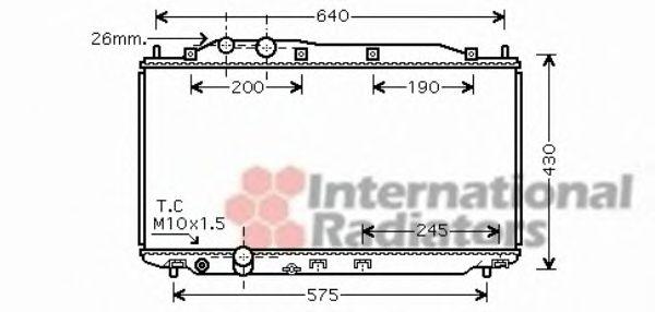 Радиатор охлаждения CIVIC7 16i/18i MT 05- (пр-во Van Wezel)                                          VANWEZEL 25002187