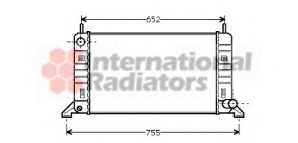 Радиатор охлаждения FORD ESCORT / ORION(86-) (пр-во Van Wezel)                                       VANWEZEL 18002078