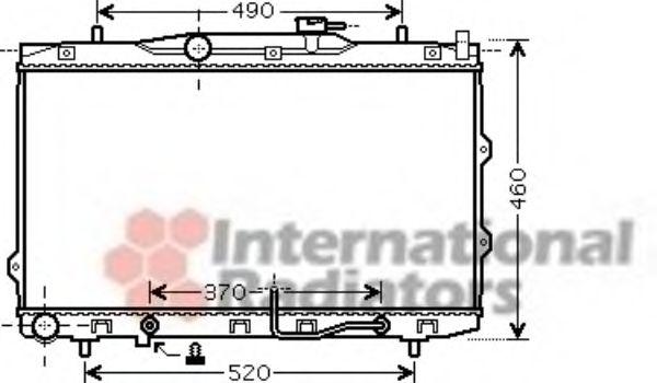 Радиатор охлаждения CERATO 16i/20i AT 04- (Van Wezel)                                                VANWEZEL 83002075
