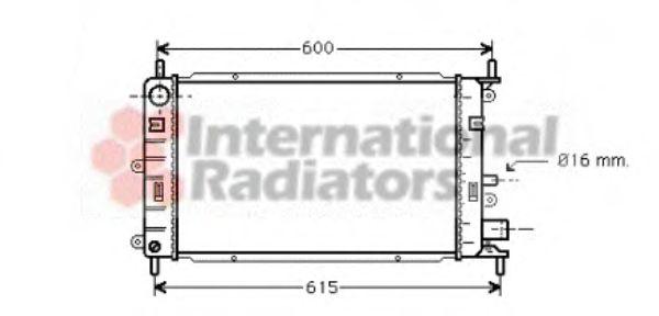 Радиатор охлаждения FORD ESCORT/ORION (пр-во Van Wezel)                                              VANWEZEL 18002149
