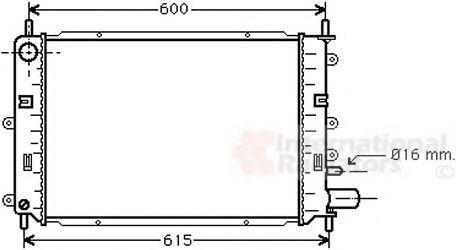 Радиатор охлаждения ESCORT/ORION MT 90-95(пр-во Van Wezel)                                           VANWEZEL 18002151