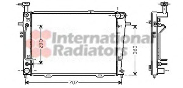 Радиатор охлаждения HYUNDAI TUCSON (JM) (04-) 2.0 AT (пр-во Van Wezel)                               VANWEZEL 82002130