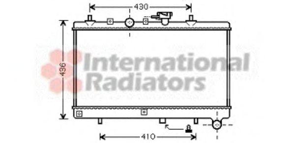 Радиатор охлаждения KIA  RIO I (DC) (00-) (пр-во Van Wezel)                                          VANWEZEL 83002054