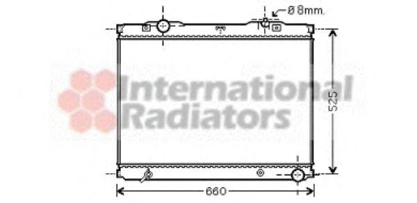 Радиатор охлаждения KIA  SORENTO I (BL) (02-)  2.5 CRDi (пр-во Van Wezel)                            VANWEZEL 83002055