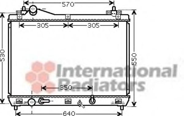 Радиатор охлаждения GR VITARA 20i AT 05-(пр-во Van Wezel)                                            VANWEZEL 52002105