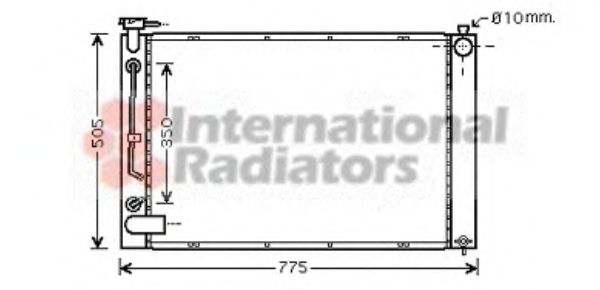 Радиатор охлаждения LEXUS  RXII (пр-во Van Wezel)                                                    VANWEZEL 53002343