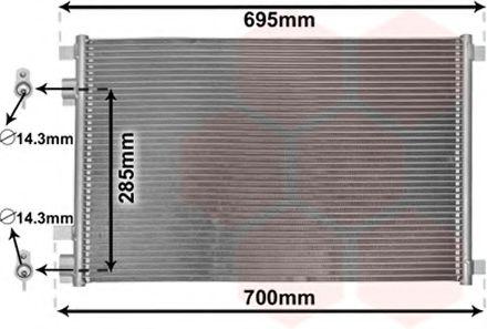 Радиатор кондиционера Конденсор кондиционера MEGANE 2 ALL AT/MT 02- (Van Wezel) VANWEZEL арт. 43005305