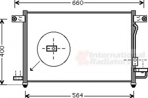 Конденсор кондиционера AVEO NT-DIES 03- 1.5 (Van Wezel)                                              VANWEZEL 81005061