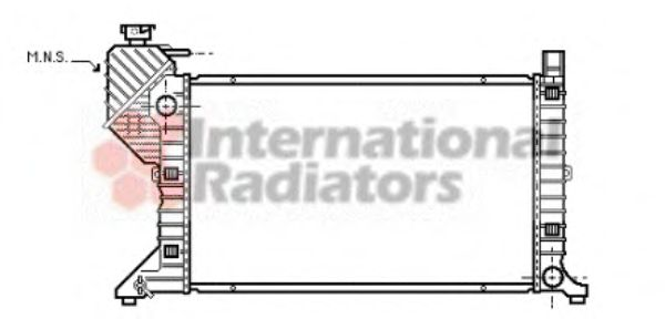 Радиатор охлаждения MERCEDES SPRINTER W 901-905 (95-) (пр-во Van Wezel)                              VANWEZEL 30002183
