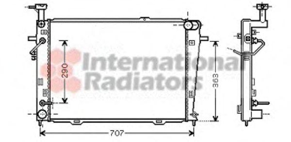 Радиатор охлаждения HYUNDAI TUCSON, KIA SPORTAGE (пр-во Van Wezel)                                   VANWEZEL 82002127