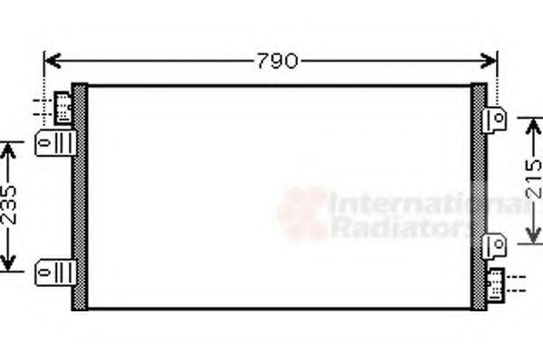 Конденсатор кондиционера MASTER2/MOVANO MT 03-(пр-во Van Wezel)                                      VANWEZEL 43005342