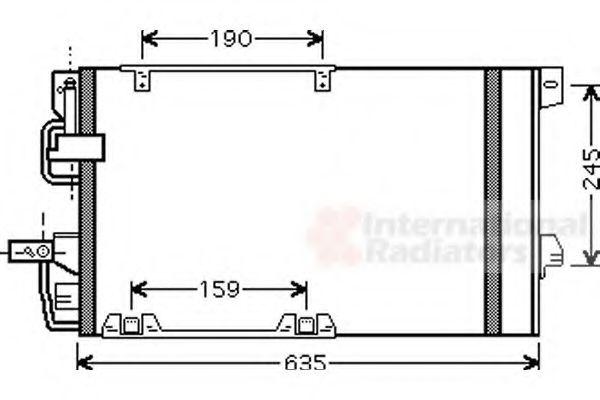 Конденсор кондиционера ASTRA G/ZAFIRA MT/AT 02- (Van Wezel)                                          VANWEZEL 37005326