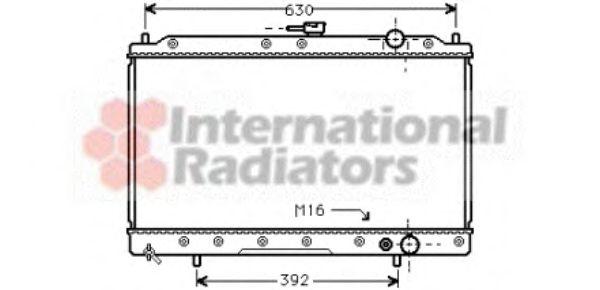 Радиатор охлаждения GALANT 3 18/20 MT 88-93(пр-во Van Wezel)                                         VANWEZEL 32002043