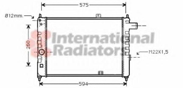 Радиатор охлаждения ASCONA C/KAD D MT 81-88(пр-во Van Wezel)                                         VANWEZEL 37002055
