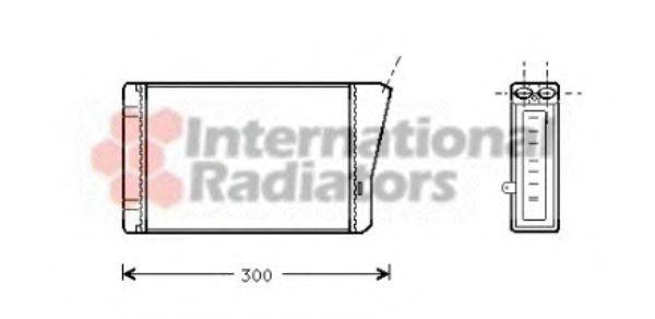 Радиатор отопителя OPEL OMEGA B ALL 94-99 (Van Wezel)                                                VANWEZEL арт. 37006196
