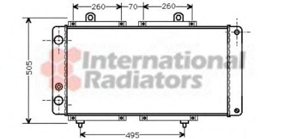 Радиатор охлаждения CITROEN; PEUGEOT (пр-во Van Wezel)                                               VANWEZEL 40002033