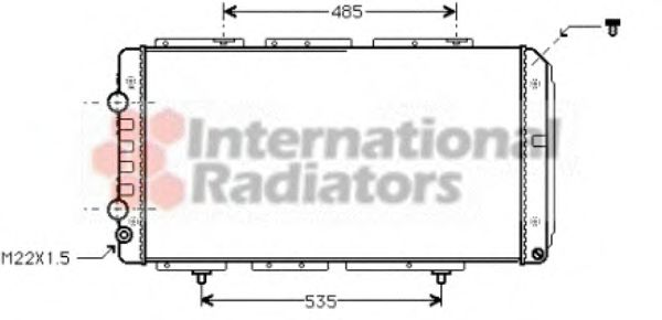 Радиатор охлаждения JUMPER/DUCATO2/BOXER M/J (Van Wezel)                                             VANWEZEL 40002150