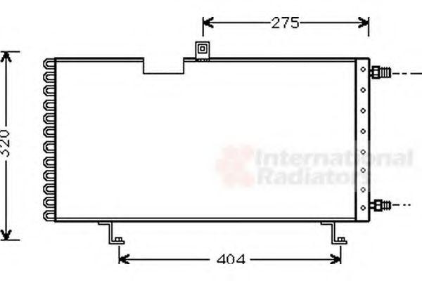 Радиатор кондиционера Конденсатор, кондиционер VANWEZEL арт. 40005158