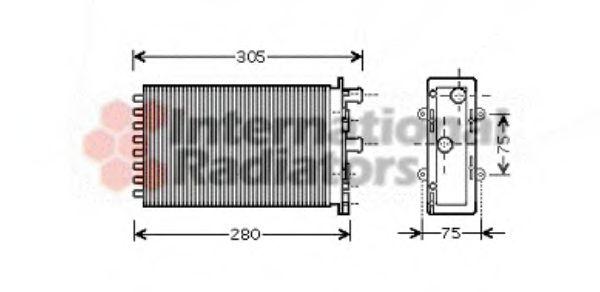 Радиатор отопителя TRANSPORTER REAR UNIT 96- (Van Wezel)                                             NISSENS арт. 58006239