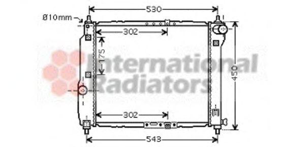 Радиатор охлаждения AVEO 12/12 MT +-AC 1.5 (Van Wezel)                                               VANWEZEL 81002066