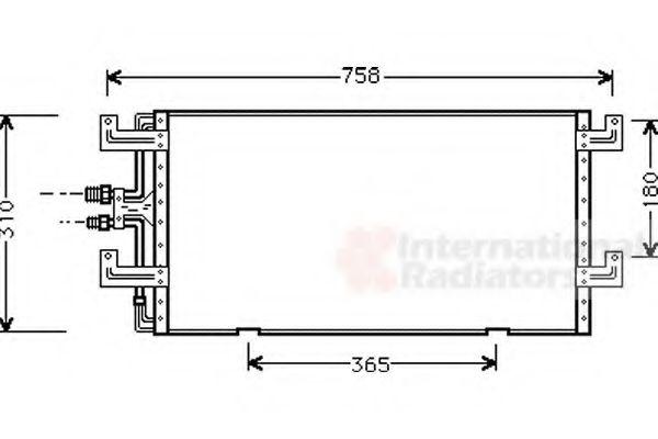 Конденсор кондиционера COND TRANSPORTER T4 90-00 (Van Wezel)                                         VANWEZEL 58005145