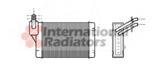 Радиатор отопителя AUDI, SEAT, VW (пр-во Van Wezel)                                                  VANWEZEL арт. 58006069