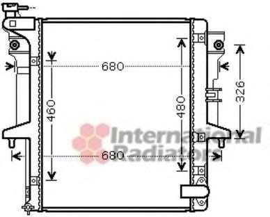 Радиатор охлаждения MITSUBISHI L 200 (06-) 2.5 D(пр-во Van Wezel)                                    VANWEZEL 32002202