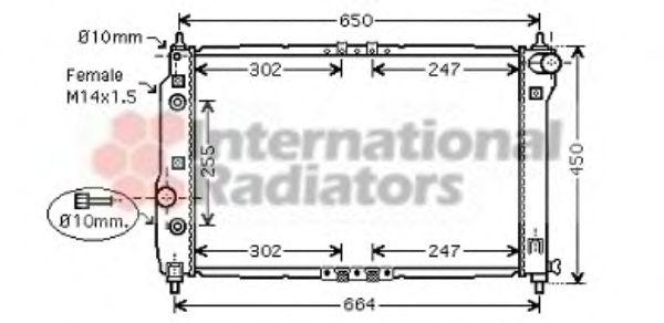 Радиатор охлаждения CHEVROLET AVEO 1.5 (AT) (2-й сорт)(пр-во Van Wezel)                              VANWEZEL 81002068