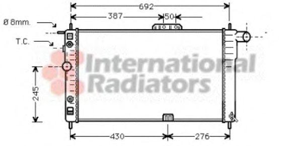 Радиатор охлаждения DAEWOO NEXIA (94-) (Van Wezel)                                                   VANWEZEL 81002002