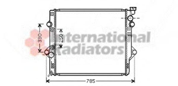 Радиатор охлаждения LANDCRUISER 40i AT 03-(пр-во Van Wezel)                                          VANWEZEL 53002367