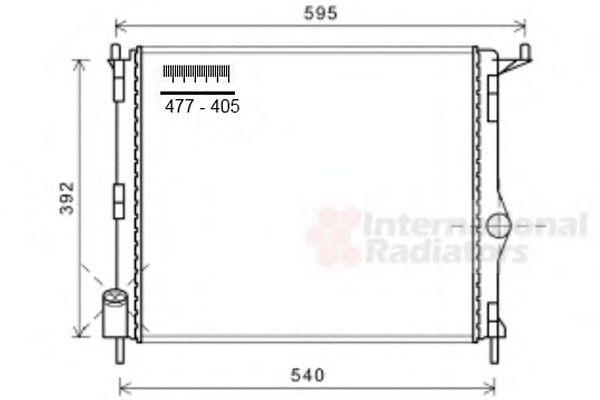 Радиатор охлаждения LOGAN/SANDERO NT-D -AC(пр-во Van Wezel)                                          VANWEZEL 43002476