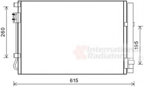 Радиатор кондиционера HYUN ACCENT 11-  (пр-во Van Wezel)                                             в интернет магазине www.partlider.com