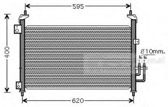 Конденсор кондиционера CIVIC7 HB ALL 05- (Van Wezel)                                                 VANWEZEL 25005213